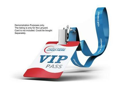 100Custom Polyester Lanyards with your Logo 1 inch for business, personalized
