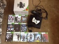 Xbox 360 250GB/GO with 12 Games Boxed