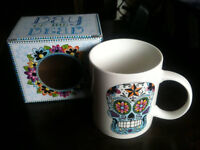 New Halloween, Day of the Dead Bone China Mug - Ideal Christmas Present