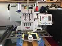 janome mb4 embroidery machine *** PLUS DIGITISING SOFTWARE WITH SECURITY DONGLE ***