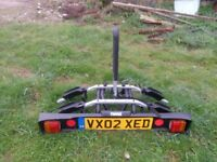 Thule towbar bike rack for 2 bikes - under a year old, used twice.