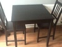 FREE Dining table and two chairs