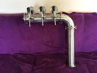 Draft Beer Tower - Stainless Steel -Real stainless steel- 3 Faucets