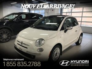 FIAT 500 2012 LOUNGE + TOIT + MAGS + CUIR + CRUISE + BLUETOOTH +