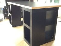 IKEA Black Desk - solid top - separates