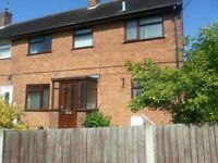 Large three bedroom semi detached family home to rent in Hadley Telford