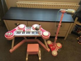 ELC Pink Keyboard and Microphone