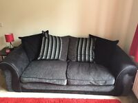 Large 3 seater sofa and armchair