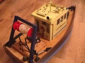 MODEL FISHING BOAT SCRATCH BUILT R/C