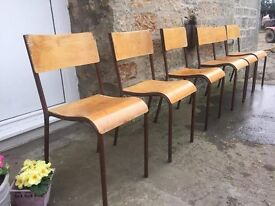 Stacking Mid century school chairs