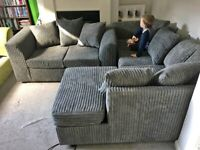 Brand New Dylan Cord Fabric Sofa *Corner & 3+2 Seated Sofa* For Sale
