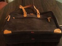 ITalian BRICS tan leather travel briefcase.