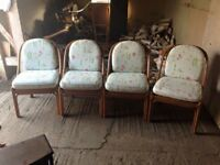 4x Laura Ashley conservatory style chairs