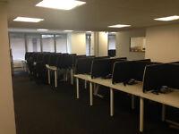 White call centre desks