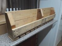 Brand new rustic wall mounted wine rack. Solid construction £35 Redcar Ings
