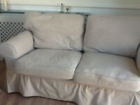 2 seater IKEA sofa with removable covers.