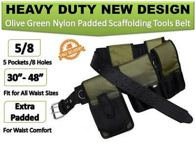 New Olive Green Tools Belt Scaffold Nylon Padded 8 In1- Triple Double Spanner
