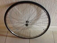 Beretta (Italy) 700c front wheel and 700c x 25 tyre. Ready to use.