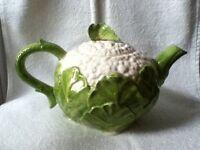Vintage Fitz and Floyd Cauliflower Teapot.