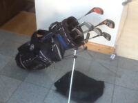 4irons,1putter,4drivers,RAM golf bag with hood,legs and back carry straps--the lot for £20
