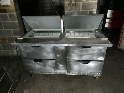 Beverage-air 60 4 Drawer Refrigerated Sandwich Prep Table Sped60-24m-4-sns
