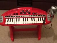 Children's keyboard and stool