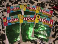 6 x GREEN TINSEL 9FT CURTAIN RRP £5.99 EACH THE 6 GREAT FOR A PARTY