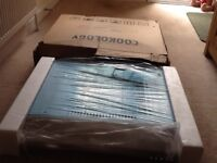 COOKOLOGY 60cm visor cooker hood in stainless steel. New, boxed!