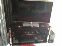 42inc smart tv Panasonic, blue ray player, surround sound and stand