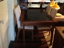 Timber Dining table glass top Stafford Heights Brisbane North West Preview