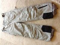 Trespass Salopettes Ski/Snowboard trousers Size L Grey