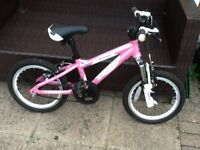 "Girls 16"" Carrera Luna Mountain Bike - excellent condition."