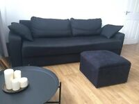 Sofa Bed with footstool must go ASAP (OPEN TO OFFERS!!!)