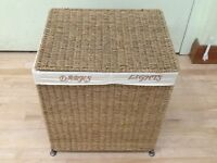 Seagrass Laundry Basket with sorter compartment.