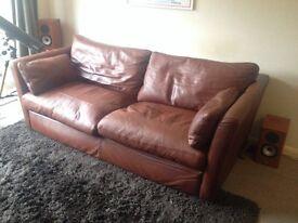 Multiyork Diplomat Extra Large 3 seater brown handmade leather sofa