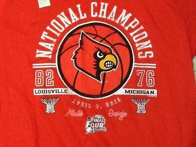 Louisville Cardinals Basketball 2013 NCAA CHAMPIONS T-Shirt Men's MEDIUM Size M 2013 Ncaa Mens Basketball