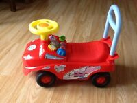 Sit on walker 'cars' toy