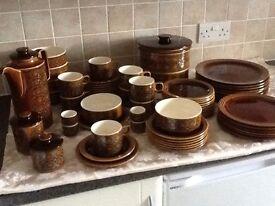 Hornse Pottery BRONTE crockery, 1972-1975 vintage