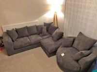 BRAND NEW DYLAN JUMBO CORD CORNER OR 3+2 SAETER SOFA SET AVAILABLE IN STOCK ORDER NOW