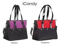 iCandy Strawberry Luxury Tote Baby Nappy Change Bag With Accessories Black Red Purple Brand NEW