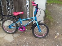 Girls Apollo roxy bicycle with helmet