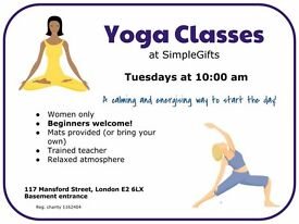 Yoga class for beginners in Bethnal Green, East London