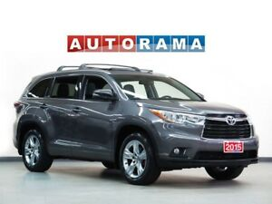 2015 Toyota Highlander NAVIGATION LEATHER SUNROOF 7 PASS 4WD BAC