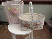 Lovely little waste paper bin and flier basket