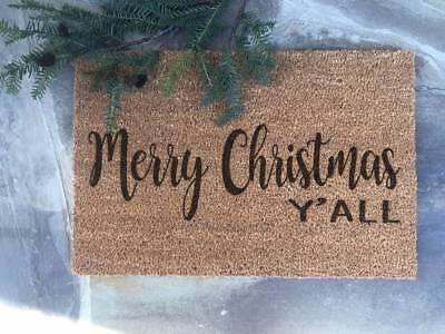 MERRY CHRISTMAS Y'ALL Southern Home Decor Door Mat Doormat IKEA