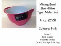 Mixing Bowl - 4 Litre - Melamine - Dishwasher Safe - UNUSED