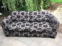 2x DFS sofas one 2 seater and one 3 seater