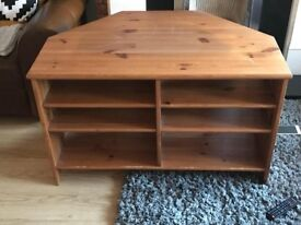 IKEA Leksvik corner wooden tv unit