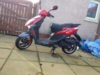 red moped good condition