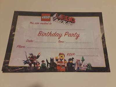 LEGO BIRTHDAY PARTY INVITATIONS 25 PIECES with - Lego Birthday Invitations